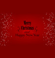 christmas and new year typographical on red vector image vector image