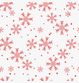 christmas seamless pattern of snowflakes red on vector image vector image