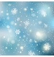 Christmas winter snowflake background vector image