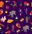 circus amusement and attraction seamless pattern vector image vector image