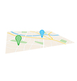 city map with pointers in perspective vector image vector image