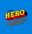comics book style font super hero vector image vector image