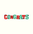 congrats concept stamped word art vector image vector image
