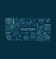 content concept blue linear horizontal vector image