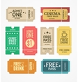 Coupon and Tickets Set vector image vector image