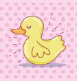 cute duck cartoon vector image vector image