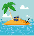 cute island cartoon vector image