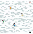 doodle stripes kids seamless pattern cute vector image