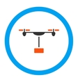 Drone Shipment Rounded Icon vector image vector image