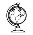 earth globe icon image vector image