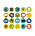 Flat icons set 9 vector image