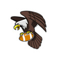 Flying Bald Eagle Grab Football vector image vector image