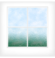Frosted glass window vector image
