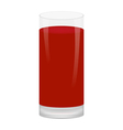 glass of fruit juice vector image