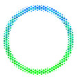 halftone blue-green circle bubble icon vector image vector image