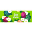 happy easter template with colorful eggs and vector image vector image