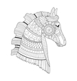 Horse coloring book vector image