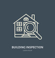 house inspection flat line icon real vector image