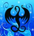 ice dragon vector image
