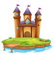 isolated castle on white background vector image