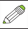 isometric icon design of pencil sketching pencil vector image