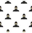 jewish rabbi pattern flat vector image vector image