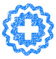 medical cross stamp grunge icon vector image vector image
