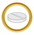 Medicine pill icon vector image
