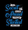 motivation quote and saying good for print design vector image
