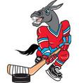 mule sports logo mascot hockey vector image vector image