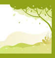 park with trees and green grass bushes in spring vector image vector image