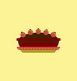 pie icon delicious pie vector image vector image