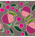 pomegranate and cherry pattern vector image vector image