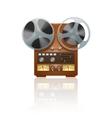 Retro tape recorder icon vector image vector image