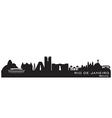 Rio de Janeiro Brazil skyline Detailed silhouette vector image