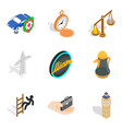 road rules icons set isometric style vector image vector image