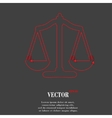 Scales balance Flat modern web button and space vector image vector image