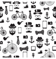 Seamless pattern in hipster style vector image vector image