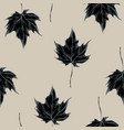 seamless pattern of maple leaves hand vector image