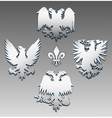 Silver eagle vector image