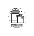 sport water flasks or bottles icon vector image