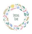 spring time flower bloom garden meadows plants vector image