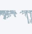 tree leaves silhouette banner background maple vector image