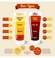 Types of beer infographic with places for your vector image