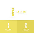 unique letter i logo design template vector image