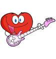 Valentine Heart Character Guitarist Playing A Song vector image vector image