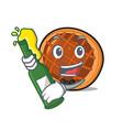 with beer baket pie mascot cartoon vector image vector image