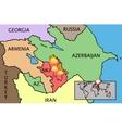 Nagorno Karabakh Republic map vector image