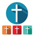 christian cross flat icon design vector image