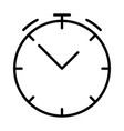 clock line icon stopwatch linear symbol vector image
